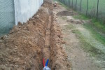 Enfouissement de la gaine électrique et du PER pour l'acheminement de l'eau